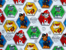Fat Quarter Paw Patrol Fabric Chase Rubble Marshall Quilting Cotton Boy Pups