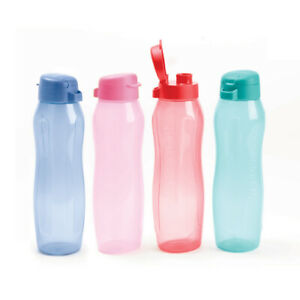 New TUPPERWARE Eco Water Drink Bottle 500ml 1L New Colours Pink Blue Red Green