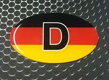 "Germany Deutschland Oval Domed Decal Emblem Flexible Car Sticker 3D 3""x 2"""