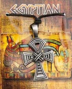 Halskette Kreuz Anhänger Ankh-Zinn-Schmuck Ägypten ancienne-2656-D8A
