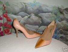 New Handmade HYPE Pink & Brown Snake Leather Pumps 8