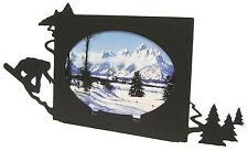 "Snowboard Oval Picture Frame 3.5""x5"" - 3""x5"" H Snowboarding Skiing"