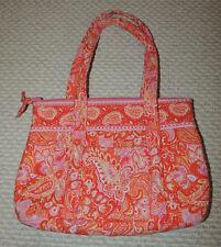 Vera Bradley Sherbet Betsy Purse Tote Bag, Orange, Pink, Yellow