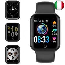 KUNGIX Smartwatch Orologio Fitness Trakcer Pressione Sanguigna Monitor  (Nero)