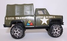 Vintage 1979 Buddy L Army Transport T-5278 Metal Pickup with Cannopy!