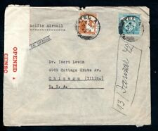 Palestine - 1942 Pacific Airmail Censor Cover to Chicago, USA