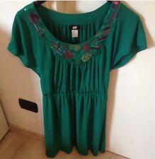 abito donna H&M Tg S Colore Verde Smeraldo Nuovo