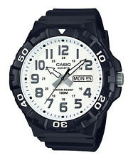 Casio MRW210H-7AV Men's Oversized Black Resin Strap Day Date 100M Sports Watch