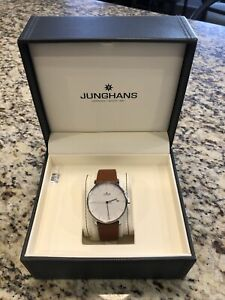 Junghans Form A Automatic 027/4734.00 Brown Leather Strap Watch Preowned Men