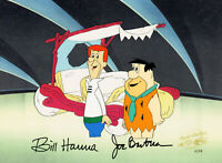 Jetsons/Flintstones-George/Fred-Original Production Cel Signed By Hanna+Barbera