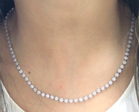 DEAL! 4.50CT GENUINE CLUSTER DIAMOND LADIES ETERNITY NECKLACE IN 14K GOLD 18''