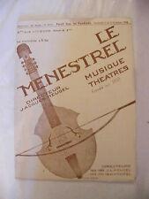 Partition Le Ménestrel Musique Théâtres N°40 41 1936