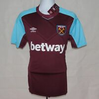 2017-2018 West Ham United Home Football Shirt, Umbro, Large **BNWT**