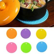 Silicone Trivet Mat Hot Pot Stand Black Heat Resistant Non-Slip Kitchen Pad A4A8