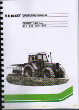 Fendt 611, 612, 614, 615 FAVORIT LSA Turbo Tractor Operating Manual