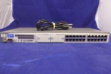 HP ProCurve Switch 24-Port 2524 Hewlett Packard J4813A w/ Power Adapter