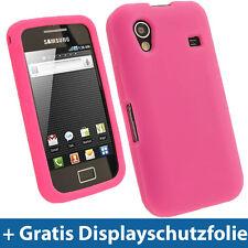 Pink Silikon Tasche für Samsung Galaxy Ace S5830 Hülle Case Skin