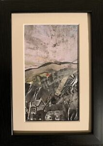 Spirits Of The Smokey Vale  - Mini original Painting by Sarah Gill In A Frame