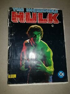 Vintage The Incredible Hulk Sticker / Card Album 1979 RARE 14 missing from 180