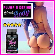 Maximum Strength Get Thick Quick Bigger Butt, Booty, Hip , Enlarge Pills - black