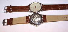 Bergmann-Uhr Highline Automatic 43mm-Genuine Leather  Armband braun  Datum-NEU