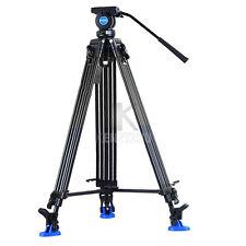Pro 1.8M Video Camera Comcorder Fluid Drag Tripod Benro KH-26NL Hydraulic Head