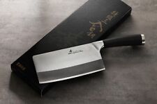 ZHEN Japanese VG-10 3-Layer Forged High Carbon Steel Light Slicer Knife,6.5 in
