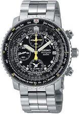 Seiko Watch Pilot Chronograph Ref.Sna411P1 Black New /C1