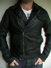 MENS G STAR 'SLEEN CORRECT LEATHER JACKET' RRP $900 - BNWT - SIZE L