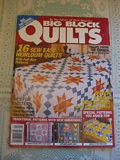Big Block Quilts Pattern Magazine 1997 16 Patchwork Projects