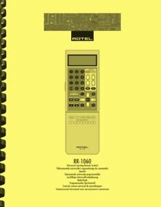 Rotel RR-1060 Remote Control OWNER'S USER MANUAL