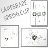 Lighting UK Lamp Shade Modern Spring Clip Retainer Lamp Shade Choice of 6 Sizes