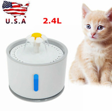 2.4L Led Pet Water Fountain Dogs Cat Automatic Dispenser Drinking Bowl Drinker