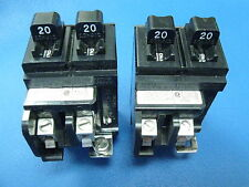 ONE - 20 Amp Pushmatic P2020 Twin Duplex BREAKER Will fit anywhere No CLT Tab