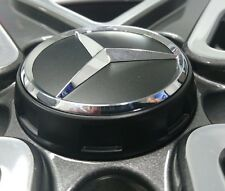 Genuine Mercedes-Benz Alloy Wheel AMG Centre Lock Design Cap - Black/Silver Star