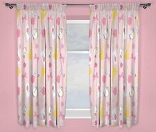 New Beauty and The Beast Disney Princess Girls Pink Curtains - 72 Inch Drop