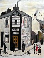 L S LOWRY WILSONS TERRACE YORK : Original Oil Painting on Canvas by Jim Glennie