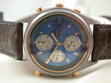 *MH1438* Seiko Sports Titanium SQ 100 Chronograph Quartz bicolor