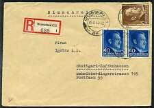 GG R-Brief  Warschau  Zuffenhausen  1943