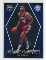 2016-17 Ben Simmons Panini Totally Certified #30 Franchise Foundations Rookie RC
