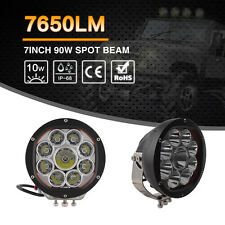 7inch 90W LED Work Light Round Spot Beam Offroad Fog Driving Lamp 4X4 Jeep Truck