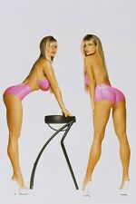 Barbi Twins Bikini Pin Up Color 11x17 Mini Poster