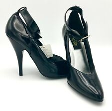 "Gorgeous & SEXY Patent BLACK 5"" HEELS - Ellie Womens Shoes NIB w/Tag SIZE 8 NEW"