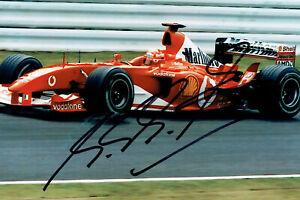 Michael Schumacher Original Autogramm auf Foto 10x15 cm