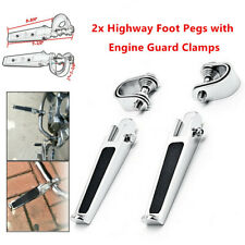 "2X 1-1 1/4""  Motorcycle Engine Bumper Rod Crash Highway Bar Guard Foot Pegs Part"