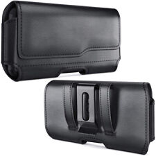 Black Leather Belt Clip Pouch for Samsung Galaxy Note 10 Plus Fit Otterbox Case