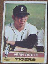 Vern Ruhle, Tigers, 1976 #89 Topps Baseball Card, Good Condition