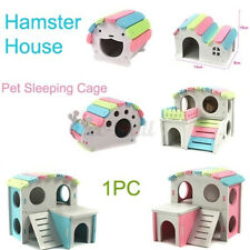 Hamster House Large Wooden Pet Bed Nest Climbing Ladder + Stairs Rat Guinea Pig