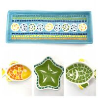 Boston Warehouse Mosaic Fish Condiment Dip Serving Bowls Tray Set Of 4