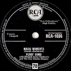 Classique - UK #1 1958 Perry Como 78 Magic Moments / Catch A Falling Star